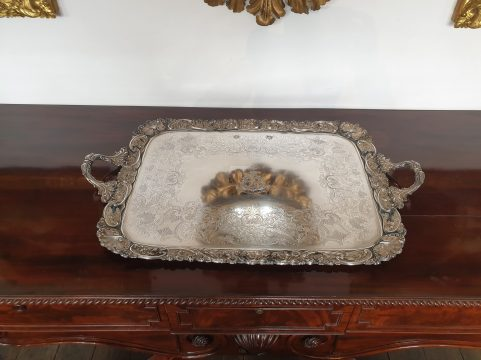 The Earl of Lauderdale's Old Sheffield plate tray c 1825