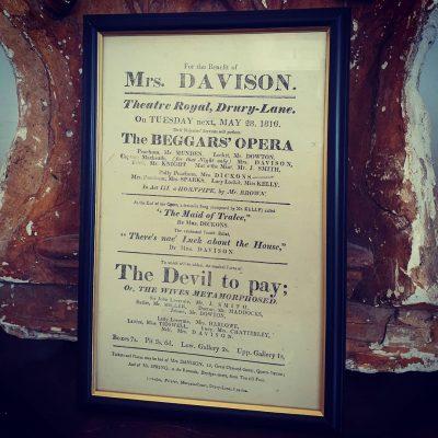 Beggars Opera playbill 1816