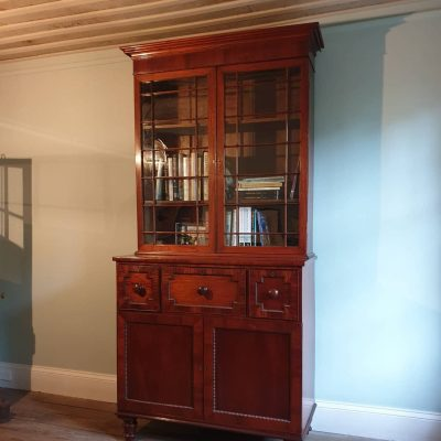 Tasmanian Colonial period cedar & casuarina secretaire bookcase c 1825