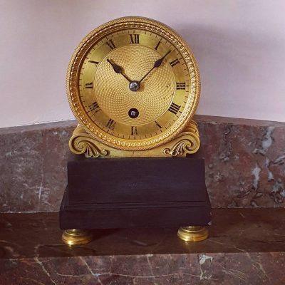 Regency library mantel clock c 1810