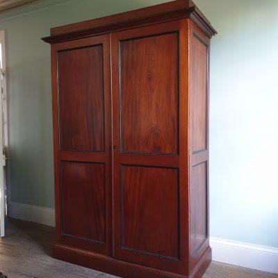 Tasmanian Colonial period Grecian cedar wardrobe c 1830