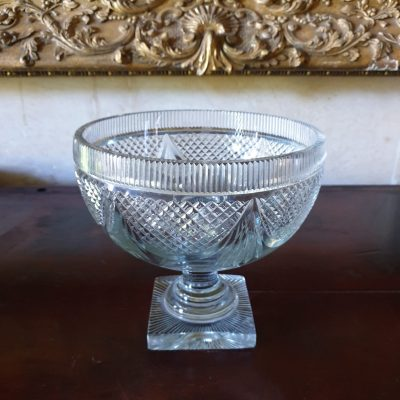 Irish Regency lead glass bowl c1820