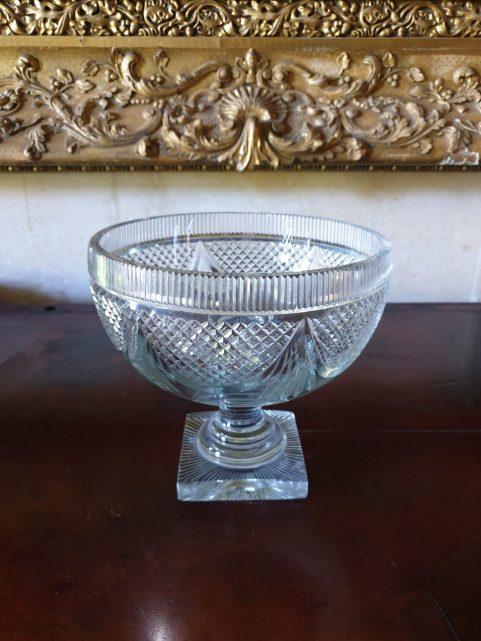 Irish Regency lead glass bowl c1820