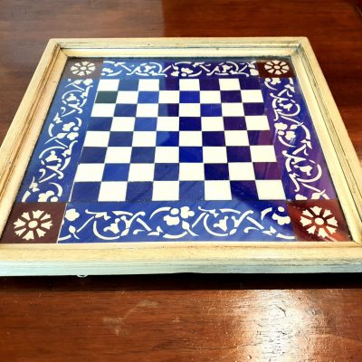 Glass chessboard c 1880