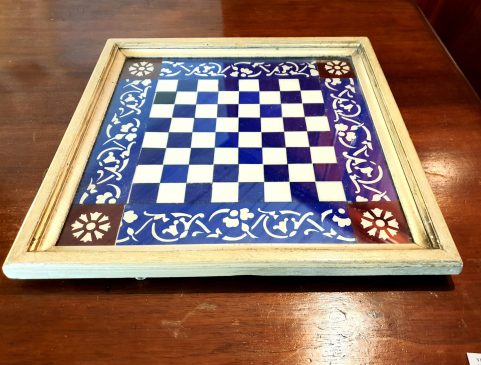 Glass chessboard c 1880