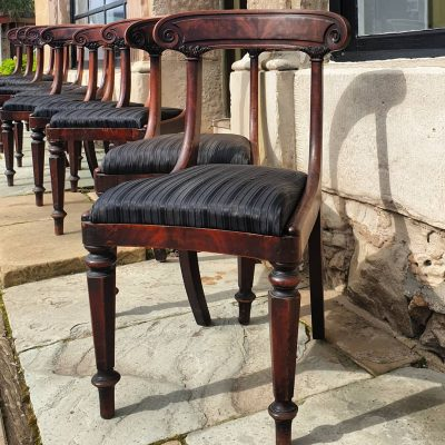 Set of Nine Grecian dining chairs c1825