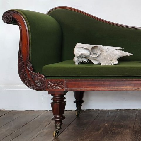 Grecian rosewood chaise longue c1825