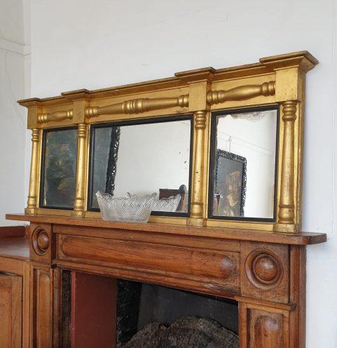 Landscape overmantel Mirror c 1830