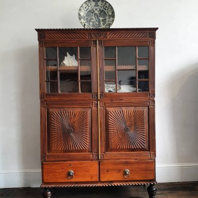 Anglo Indian rosewood bookcabinet c 1840