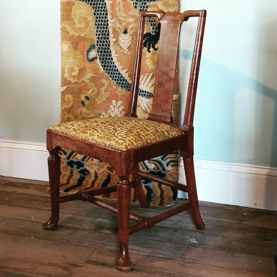 George I Chinoiserie elm chair c1730