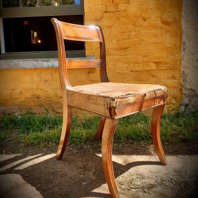 Regency Sabre Leg Chair c 1820