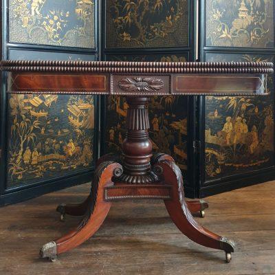 Scottish Regency mahogany Card Table c1825
