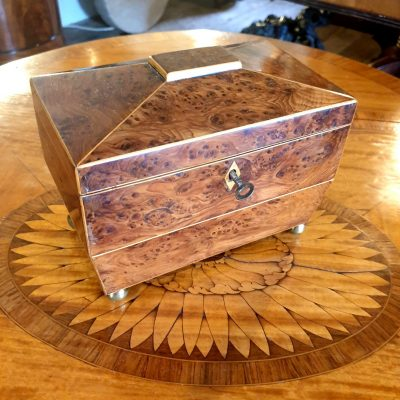Regency Yew Tea Caddy c1805