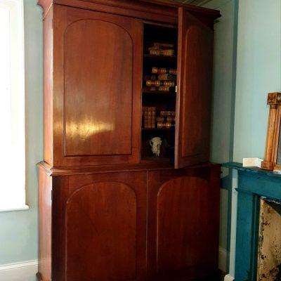 Tasmanian Colonial Cedar & Huon pine Library Cupboard c1850