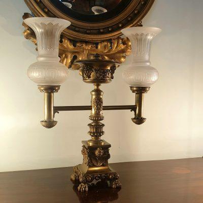Regency gilt bronze Argand Lamp c 1815