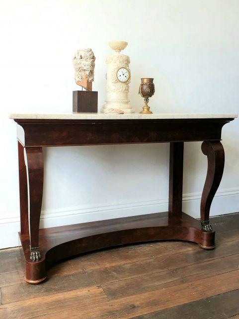 French Empire mahogany Console Table c 1810