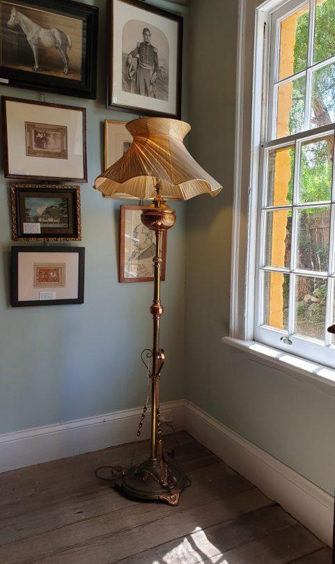 Belgian Art Nouveau standard Lamp c 1890