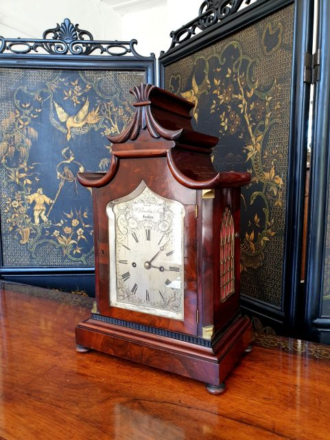 Chinoiserie Table Clock c 1825