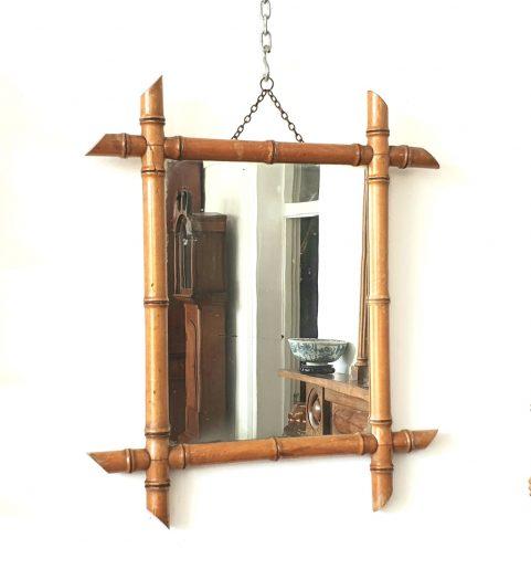 Chinoiserie Mirror & ensuite Hat Wracks c1880