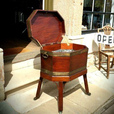 George III mahogany Wine Cellarette c1760