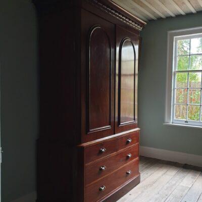 Early Victorian Mahogany wardrobe c1840
