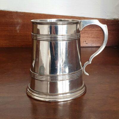 Regency Old Sheffield Plate Ale Mug c 1810