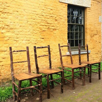 Four Rustic Hardwood Tasmanian Chairs c1985