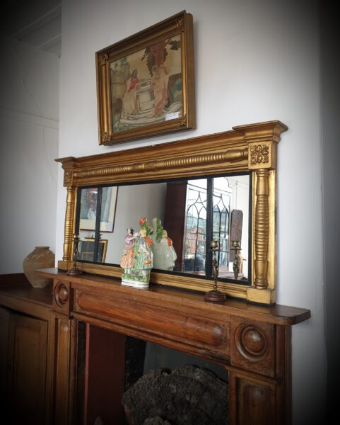 Irish Regency Overmantel Mirror c 1820