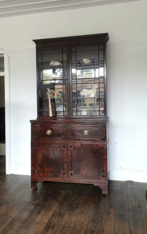 Regency Mahogany Secretaire Bookcase c1810